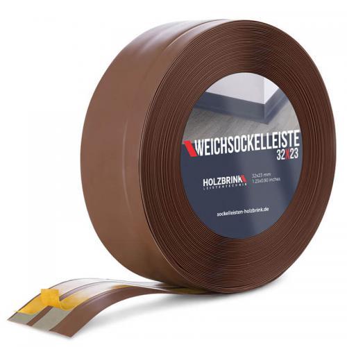 Listwa miękka przypodłogowa PVC czekoladowa 32x23mm Holzbrink