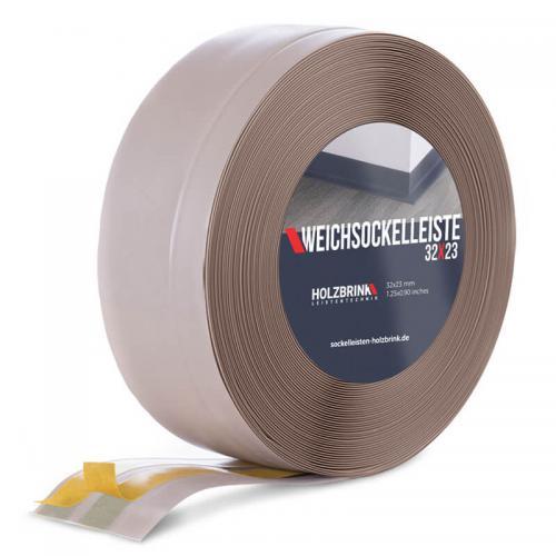 Listwa miękka przypodłogowa PVC cappuccino 32x23mm Holzbrink