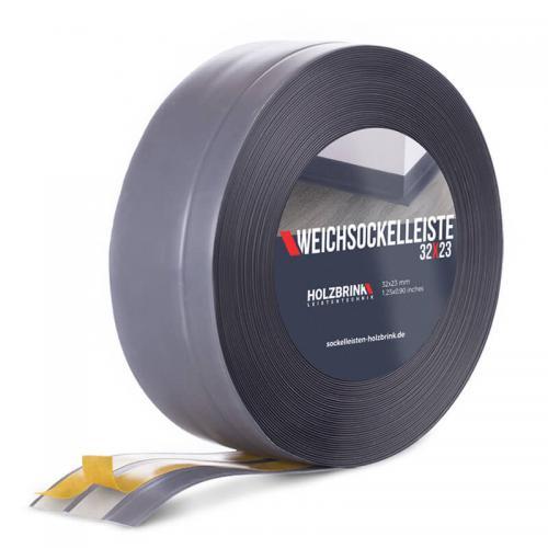 Listwa miękka przypodłogowa PVC ciemnoszara 32x23mm Holzbrink