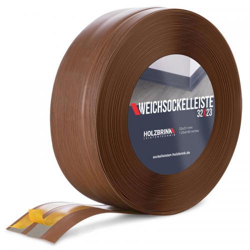 Listwa miękka przypodłogowa PVC ciemny dąb 32x23mm Holzbrink