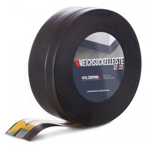 Listwa miękka przypodłogowa PVC czarna 32x23mm Holzbrink