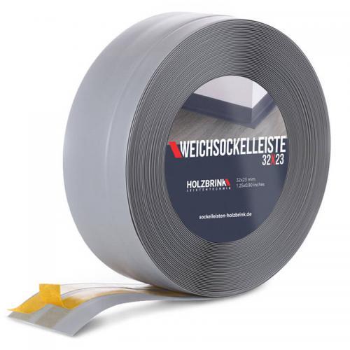 Listwa miękka przypodłogowa PVC jasnoszara 32x23mm Holzbrink