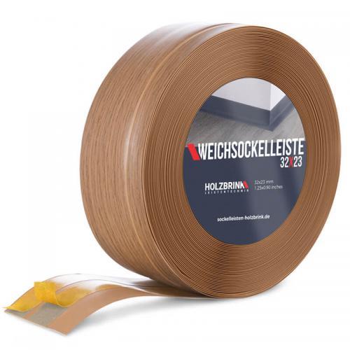 Listwa miękka przypodłogowa PVC jasny dąb 32x23mm Holzbrink