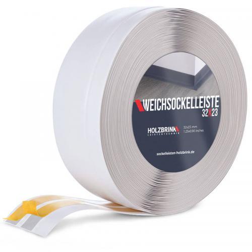 Listwa miękka przypodłogowa PVC popielata 32x23mm Holzbrink