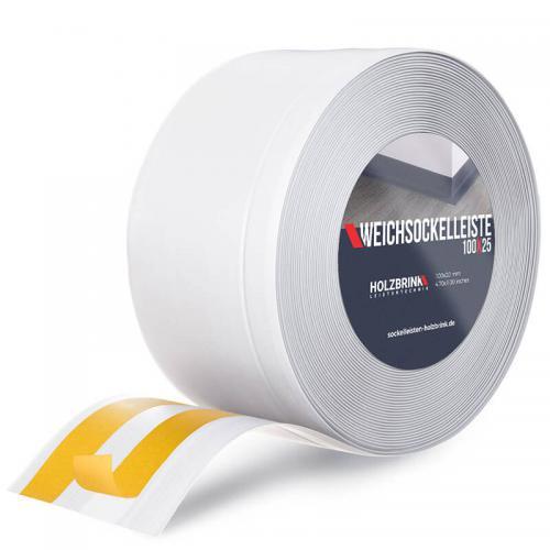 Listwa miękka przypodłogowa PVC biała 100x25mm Holzbrink