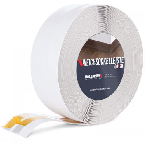 Listwa miękka przypodłogowa PVC biała 50x20mm Holzbrink