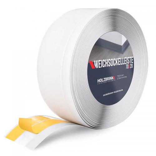 Listwa miękka przypodłogowa PVC biała 70x20mm Holzbrink
