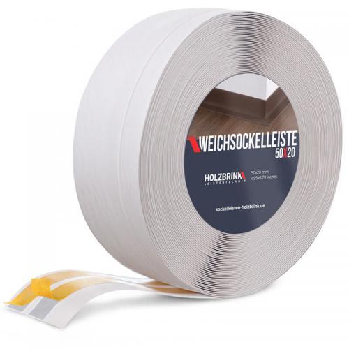 Listwa miękka przypodłogowa PVC brzoza 50x20mm Holzbrink