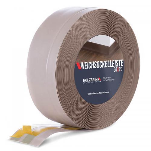 Listwa miękka przypodłogowa PVC cappuccino 50x20mm Holzbrink