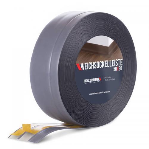 Listwa miękka przypodłogowa PVC ciemnoszara 50x20mm Holzbrink