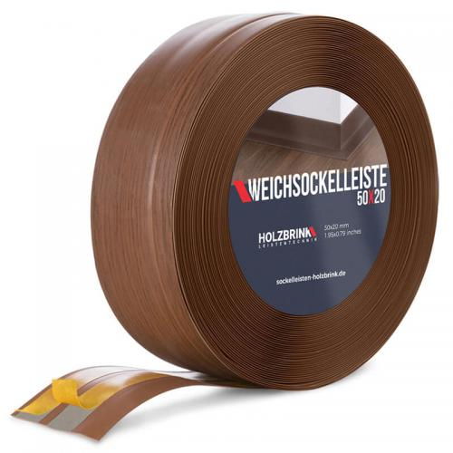 Listwa miękka przypodłogowa PVC ciemny dąb 50x20mm Holzbrink
