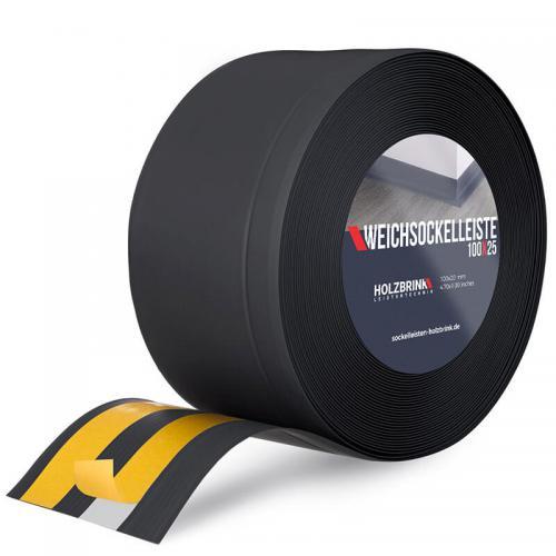 Listwa miękka przypodłogowa PVC czarna 100x25mm Holzbrink