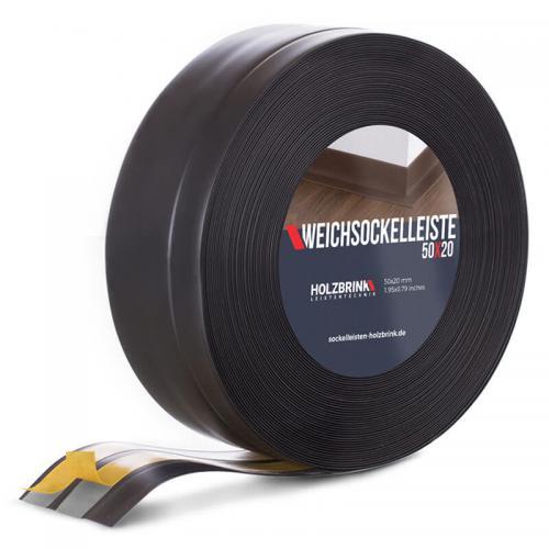 Listwa miękka przypodłogowa PVC czarna 50x20mm Holzbrink