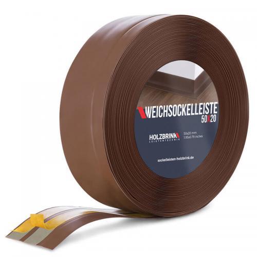 Listwa miękka przypodłogowa PVC czekoladowa 50x20mm Holzbrink