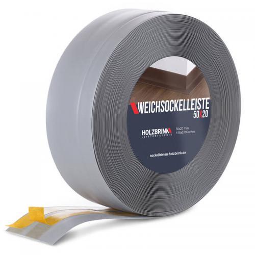 Listwa miękka przypodłogowa PVC jasnoszara 50x20mm Holzbrink
