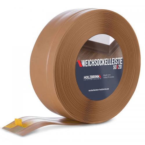 Listwa miękka przypodłogowa PVC karmel 50x20mm Holzbrink