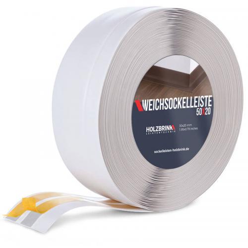 Listwa miękka przypodłogowa PVC popielata 50x20mm Holzbrink