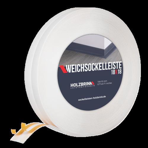 Listwa miękka PVC sanitarna 18x18mm biała Holzbrink
