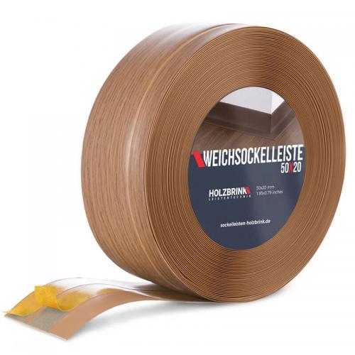Listwa miękka przypodłogowa PVC jasny dąb 50x20mm Holzbrink